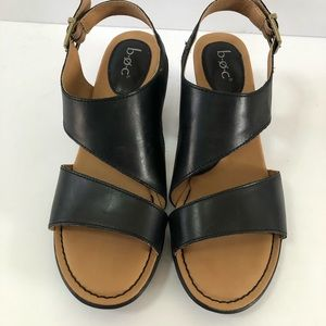 BOC Angula black leather sandals size 9M open toe